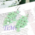 Bohem Graceful Shape imperial green Dangle Lady Earring