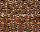 Embroidered Foil Cotton Fabrics