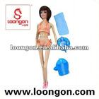 loongon solid dolls 11.5' doll set 4 asstd doll swimwear