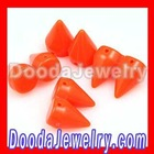 Fashion Loose Acrylic Neon color Spike Rivet beads for Rock punk jewerly