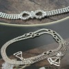 Decorative Rhinestone Metal Bra Strap