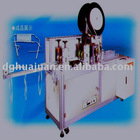 Horizontal tie tape mask machine
