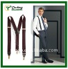 Men's Printed Elastic Suspender With Stripe Characteristics