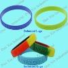 Embossed wristband, Promotional Silicone Bracelet