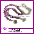 Purple star beads earphone ear buds