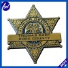 Star gold stamping ABS badge