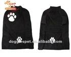 Black paw knitting dog sweater