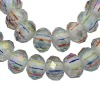 Electroplate Glass Bead Gems Strands, Abacus, Faceted Cutting, Multicolor(GLAD-Q006-2)