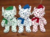 Microbead Christmas Elephant(stuffed holiday toys)