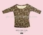 2012 womens fashion printed 3/4 sleeve tshirt