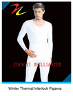 Classic High Quality White Thermal Cotton Interlock Mens Pajama Sleepwear
