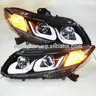 For HONDA Civic LED Head Light Angel Eyes U type 2012-13 year