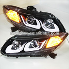 For HONDA Civic LED Head Light Angel Eyes U type 2012-13 year
