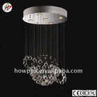 Round steel fine crystal ceiling lamp MD5860/5