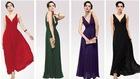 Classic hot sale beautiful chiffon summer long evening gown