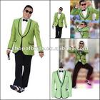 QNJLH 3441 New design Gangnam Style Kangnam Style Tuxedo Jacket Premium PSY Costume Bule Suit K-POP