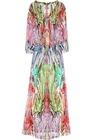 Printed silk-chiffon maxi dress HGS732