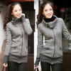 2012 Fashion Plain Zipper-Up Women Hoodies Sweatshirt
