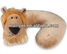 Plush fabric and microfiber filling animal pillow