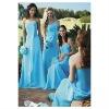 Hot-sale straspless sheath chiffon bridesmaid dress