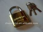 50mm Golden plated iron pad lock brass cylinder 295g