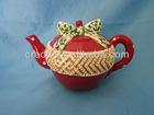 FCC4290 2013 Christmas Apple Design Ceramic Teapot