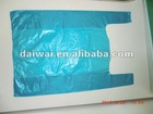 Blue color Plastic t-shirt bag with embossing/Plastic bags wholesale,manufacturer