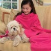 snuggie tv fleece blanket with sleevs