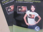 T-Shirt Inkjet/Laser printing Heat Transfer Paper For Light/Dark Color