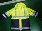 PU fire retardant antistatic rain coat workwear jacket
