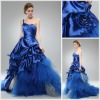 Satin Single Strap Ball Gown Prom Dresses 2012