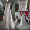 latest style beading applique tulle real sample wedding dress CBWR1001