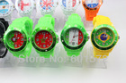 new fashion flag jelly watch without calendar,different country flag design,sports style for men/woment