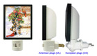 2013 Modern Photo Frame Night Light with Pictures Changing
