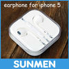 Cheap High quality Stereo earphone earpods for iphone 5, for ipad, Remote Volume control