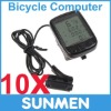10xNew LCD Cycling Bicycle Computer Odometer Waterproof Speedometer 24 Functions