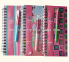 Deluxe Hardboard Spiral notebook With Strap & Pen