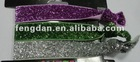 various sizes loose elastic glitter ribbon suitable to make hair jewelry