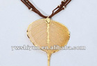 24k Gold natural buddha leaves pendant