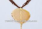 24k Gold natural buddha leaves pendant