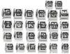 DIY alphabet alloy beads