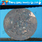 Synthetic round ice cz gemstone for jewellery