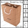For luxury LOGO printing kraft paper handle bag