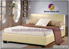 Brand New Hamburg 4ft6 Double Cream Faux Leather Bed Frame