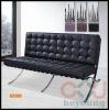 designer sofa/ stainless steel frame leather living room sofa/Barcelona Sofa 2 seater