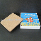 Ceramic cup coaster cork back 4c printing
