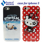 animal shaped phone cases for apple iphone 5 / hello kitty case for iphone 5