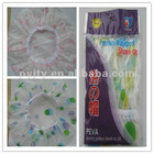 Factory supply PEVA translucent Printed Shower Cap