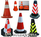 Safety Rubber reflecting Square emergency traffic cone GAT-LZ1