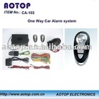 One Way Car Alarm with remote control system